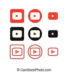 medier, sociale, youtube, iconerne