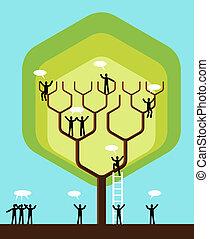 medier, træ, netværk, firma, sociale