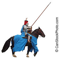 |medieval, 騎士, 馬の背