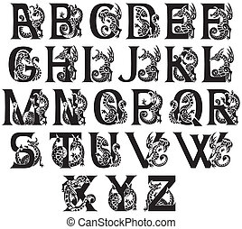medieval, alfabeto