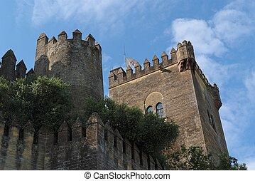 medieval,  almodovar,  Rio,  del, castelo, Espanha
