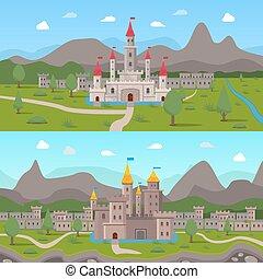 Medieval Ancient Castles Compositions