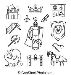 Medieval ancient knight armor
