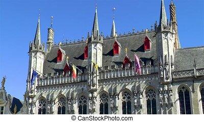 Medieval architectural details, Bruges.
