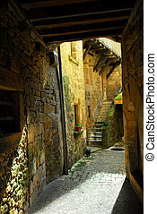 Medieval architecture - Detail of medieval architecture in...