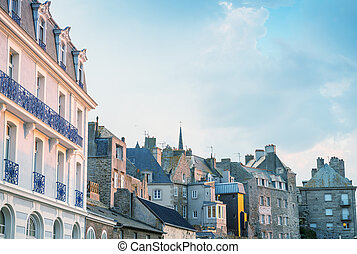 Medieval architecture of Saint Malo - France