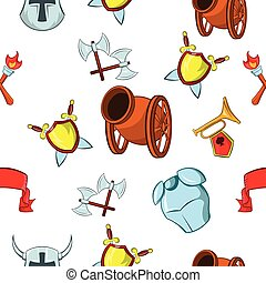 Medieval armor pattern, cartoon style