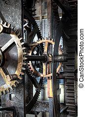 Medieval astronomical clock in St.Vitus cathedral, Prague, ...