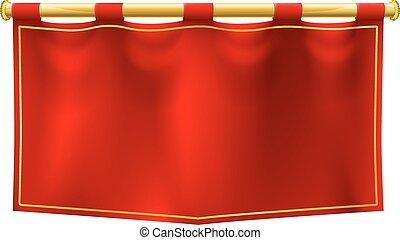 Medieval Banner Flag - A medieval style red banner flag ...