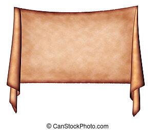 medieval banner - old scroll banner background