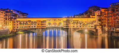 Medieval bridge Ponte Vecchio and the Arno River