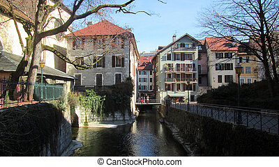 Old town of annecy, savoy, france