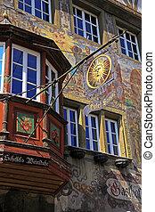 medieval building in Stein am Rhein, Switzerland