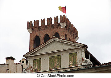medieval building in the town of Bassano del Grappa province of Vicenza in Italy