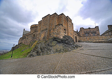 Medieval buildings in Edinburgh castle