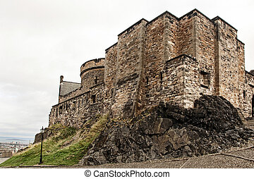 Medieval buildings in Edinburgh castle, Scotland, UK