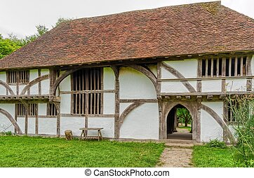 Medieval buildings in England - A reconstructed medieval...
