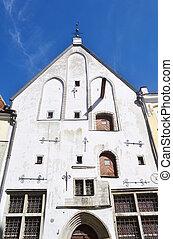 Medieval buildings in Tallinn.
