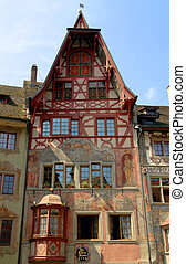 medieval buildings of Stein am Rhein (Switzerland)