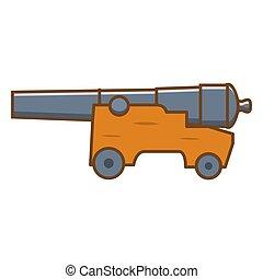 Medieval cannon. Artillery ancient weapon.Design element ...