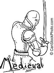 Medieval cartoon
