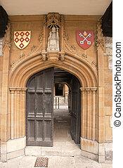 Medieval Carved Stone Doorway