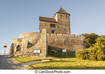 medieval, castelo, -, bedzin, polônia