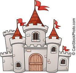 medieval, castelo