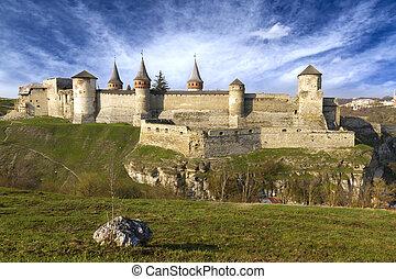 Medieval castle at Kamenets-Podolsky in Ukraine