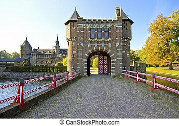 medieval castle De Haar in the Netherlands - Medieval castle...