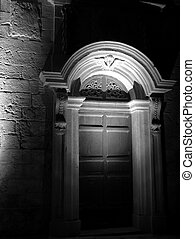Medieval Castle Door by Night