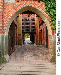 Medieval castle gate