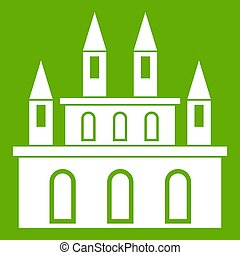 Medieval castle icon green