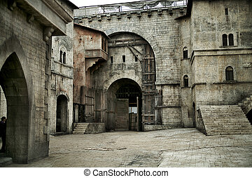 Medieval castle in european city - Picture of medieval...