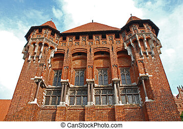 Medieval castle in Malbork - The Teutonic Order castle in...