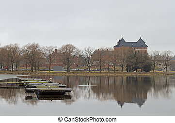 Medieval castle in the city of Hameenlinna