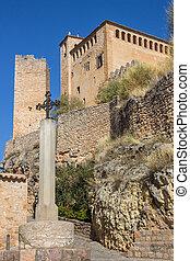Medieval castle in the village of Alquezar