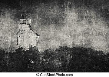 Medieval castle Lichtenstein in Maria Enzersdorf in Lower ...