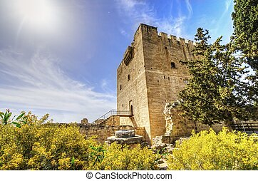 Medieval castle of Kolossi, Limassol, Cyprus - The medieval ...