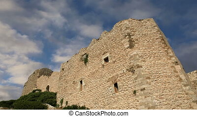 Castle of Kritinia in Rhodes, Greec - Medieval Castle of...