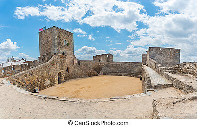 medieval Castle of Monsaraz in the Alentejo, Portugal.