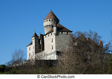 Medieval castle of Montrottier, France - Medieval castle of...