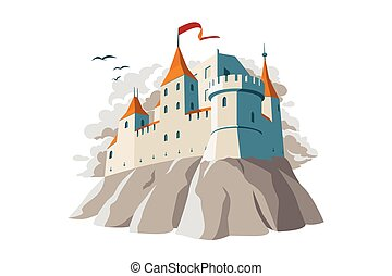 Medieval castle on hill