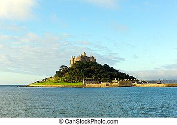Medieval castle on island Cornwall