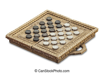 Medieval checkers or draughts