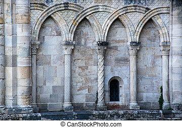 Medieval church arches