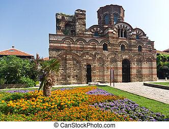 medieval church in Bulgaria - Old church in Nessebar -...