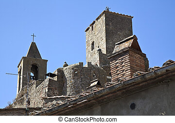medieval church in Tuscany