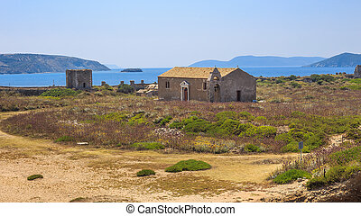 medieval church inside the Methoni, Greece