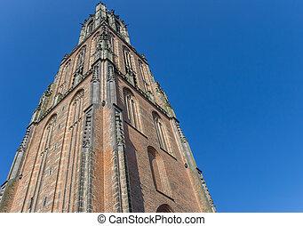 Medieval church tower Onze Lieve Vrouwetoren in Amersfoort,...
